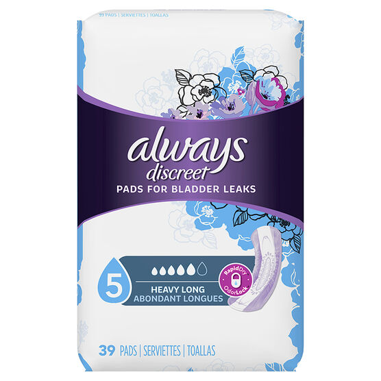 Always Discreet Pads Maximum Long Length Pads - 39's