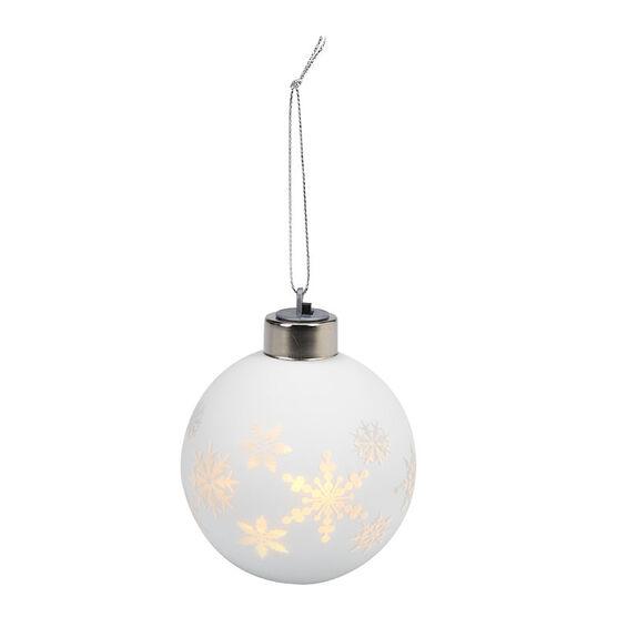 Night Splendor Ornament - Matte White