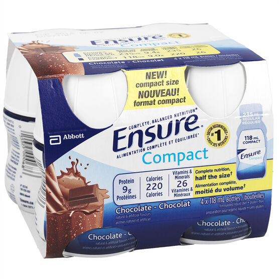 Ensure Compact Chocolate - 4 x 118ml