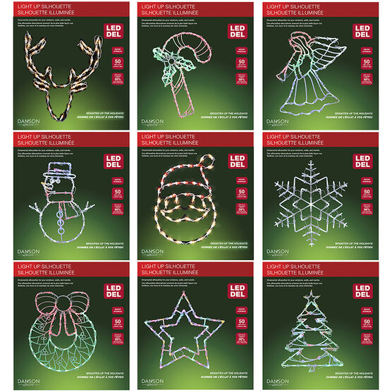 Danson Indoor LED Silhouettes - X77360 - Assorted