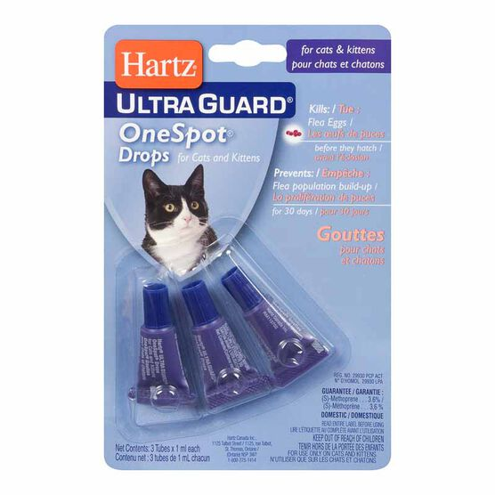 Hartz Ultraguard One Spot Flea Treatment for Cats - 3 x 1ml