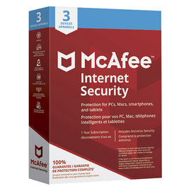 McAfee Internet Security 2018 - Three Devies - One Year