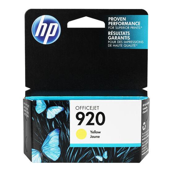 HP 920 Officejet Ink Cartridge - Yellow - CH636AC140
