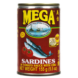 Mega Sardines in Tomato Sauce with Chili - 155g