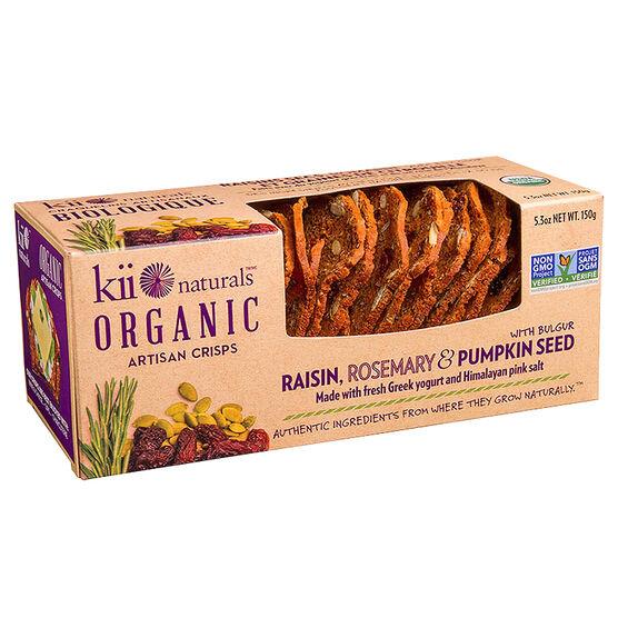 Kii Organic Crisps - Raisin Rosemary - 150g