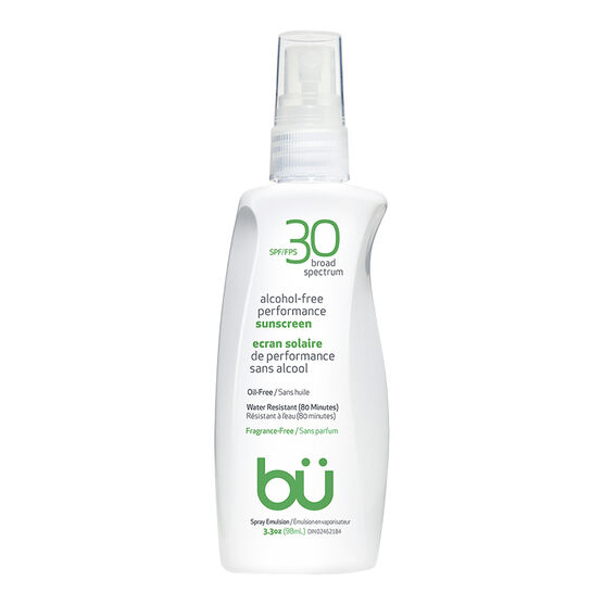 bu Alcohol-Free Performance Sunscreen - Fragrance Free - SPF30 - 98ml