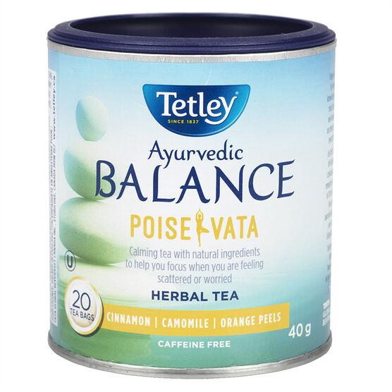 Tetley Balance Poise Vata Tea - Cinnamon - 20's