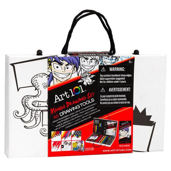 Art 101 Manga Drawing Set - 46 pieces