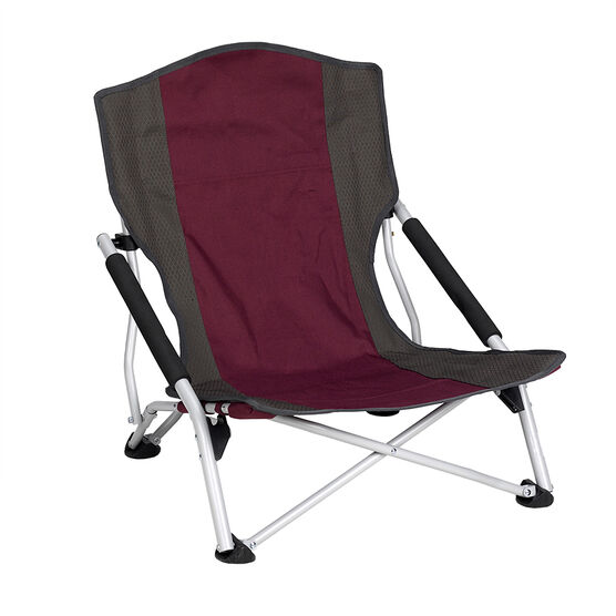 Quad Folding Beach Chair - Assorted - 56 x 60 x 61cm