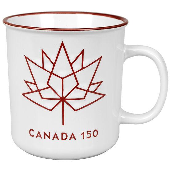 London Drugs Canada 150 Stoneware Mug - Red/White - 23oz