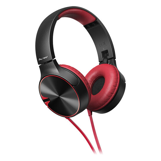 Pioneer On-Ear Headphones with Mic and On-Ear ControlTalk - Red - SEMJ722TR