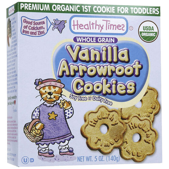 Healthy Time Organic Arrowroot Cookies - Vanilla - 140g