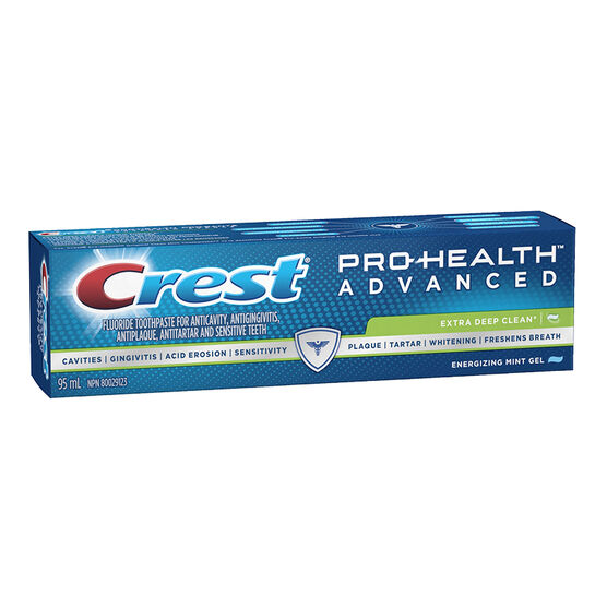 Crest PRO-Health Advanced Extra Deep Clean Toothpaste - Energizing Mint Gel - 95ml