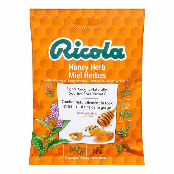 Ricola Cough Suppressant Throat Lozenges - Honey Herb - 75g