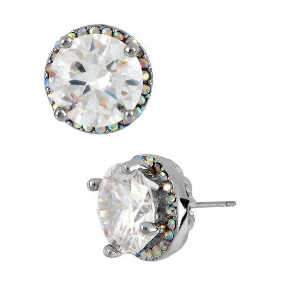 Betsey Johnson Crystal Medium Stud Earrings - Crystal