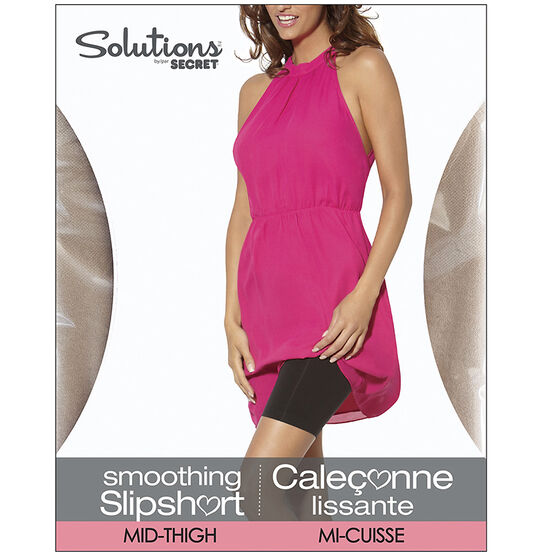 Secret Solutions Mid-Thigh Slipshort - Large - Nude