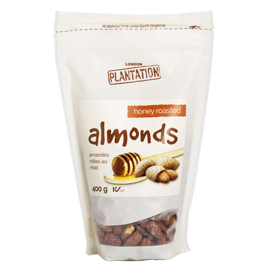London Plantation Almonds - Honey Roasted - 400g