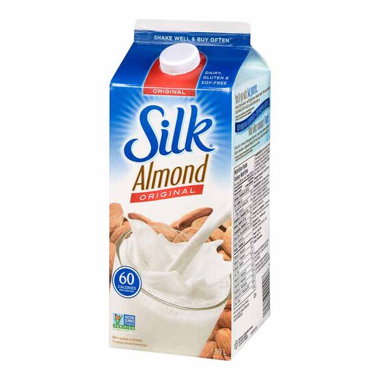 Silk True Almond Beverage - Original-1.89L