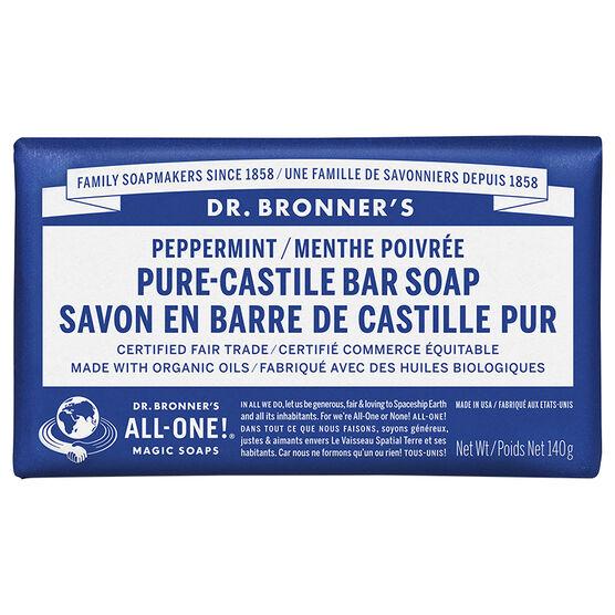 Dr. Bronner's Hemp Pure-Castile Bar Soap - Peppermint - 140g