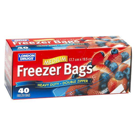 London Drugs Heavy Duty Freezer Bags - Medium - 40's