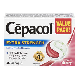 Cepacol Extra Strength Lozenges - Cherry - 36's