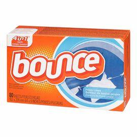 Bounce Fabric Softener Sheets - Fresh Linen - 80's