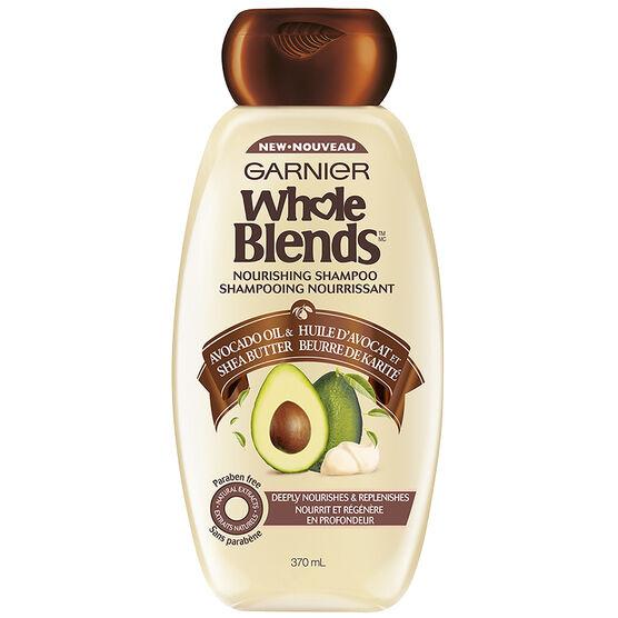 Garnier Whole Blends Nourishing Shampoo - Avocado Oil & Shea Butter- 370ml