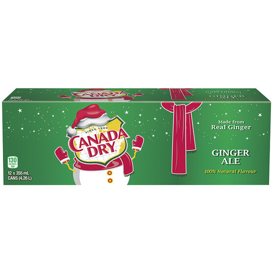 Canada Dry Ginger Ale - Fridge Mate - 12 pack