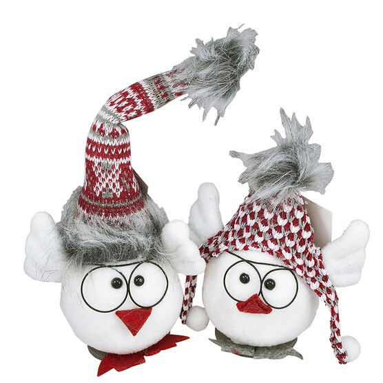 Christmas Bird With Glasses Ornament - 3.5in
