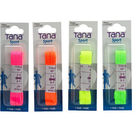 Tana Flat Neon Laces - 45 inches - Assorted