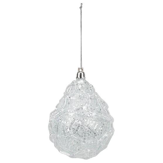 Polar Ice Drop Ornament - Clear/Blue - 10cm