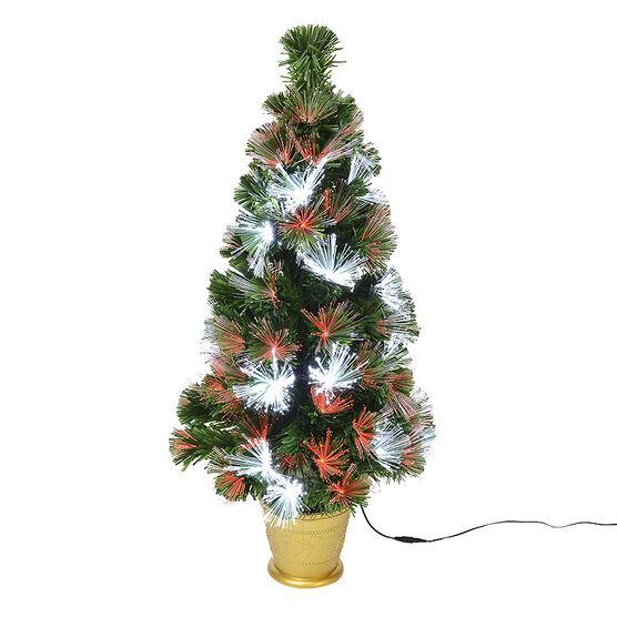 Danson LED Fibre Optic Tree - Red - 80's