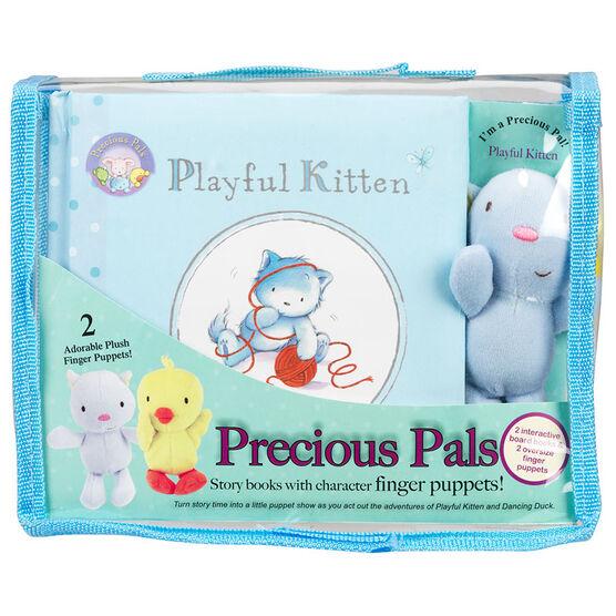Precious Pals Playful Kitten Story and Dancing Duck Set