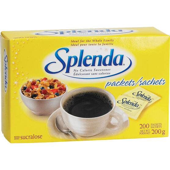 Splenda No Calorie Sweetener Packets - 200's