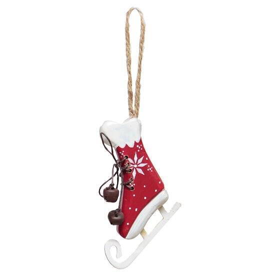 Winter Wishes Wooden Skate Ornament - 5in - XLD2016-8FOB