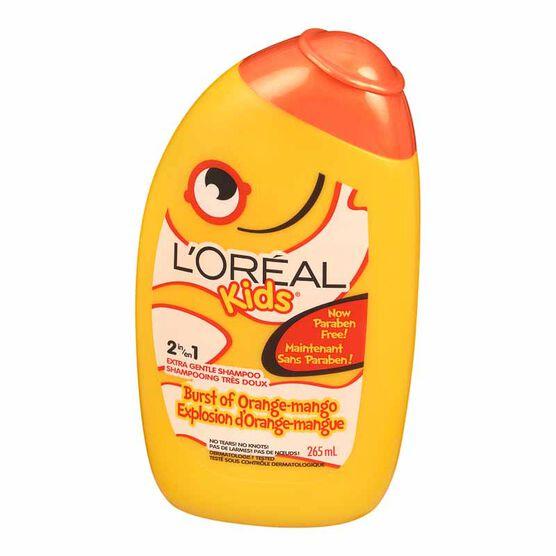 L'Oreal Kids Smoothie 2-in-1 Shampoo for Extra Shine - Orange Mango - 265ml