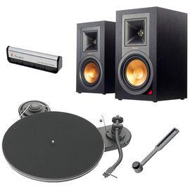 Pro-Ject Genie Turntable + Klipsch Self-Powered Speakers + Accessories - PKG #17363