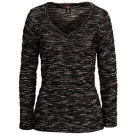 Lava Shinny V-Neck Sweater - Black