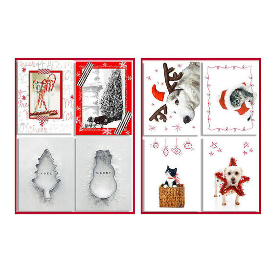 American Greetings Christmas Cards - Mini 4 Up with Red - 20 count - Assorted