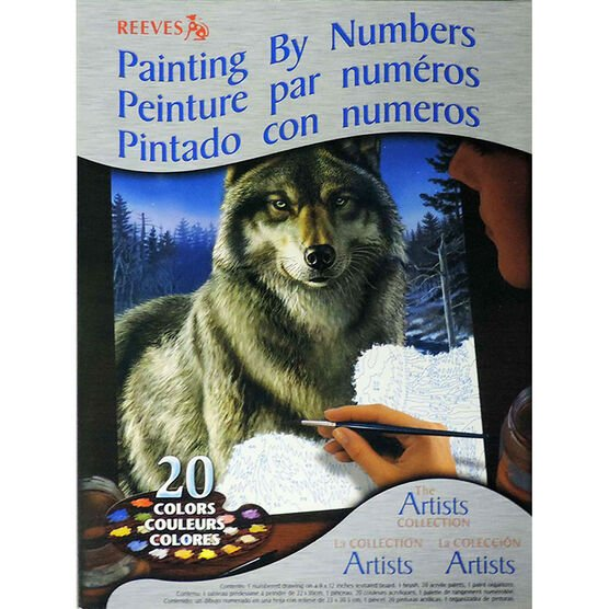 Reeves Paint by Numbers - Wolf
