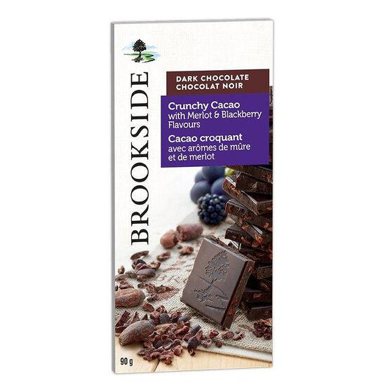 Brookside Dark Chocolate Bar - Crunchy Cacao - 90g