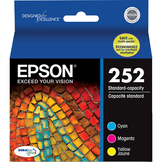 Epson DuraBrite Standard Capacity Colour Multi-Pack Ink Cartridge - Cyan, Magenta, Yellow - T252520-S