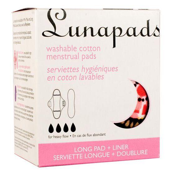 Lunapads Long Pads + Liner - 2's