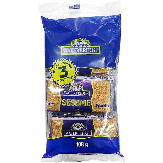 Waterbridge Sesame Snacks - 3 pack/108g