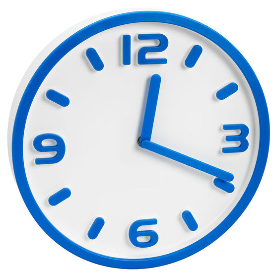 London Drugs Eriksen Clock - Blue - 30cm