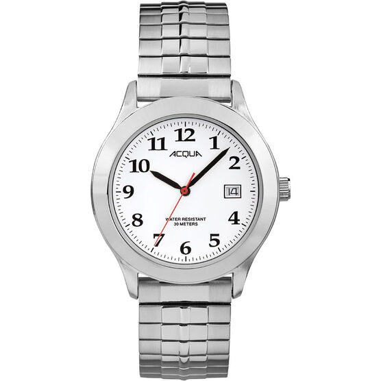 Timex Acqua Full Size Expansion Watch - Silver/White