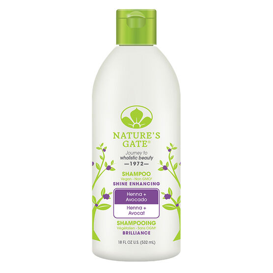 Nature's Gate Shampoo Henna + Avocado - Shine Enhancing - 532ml