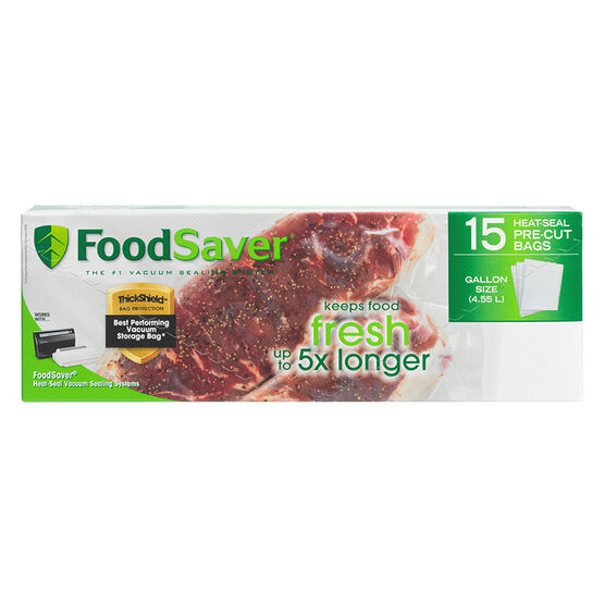 FoodSaver Gallon Freezer Heat-Seal Bags - 15's