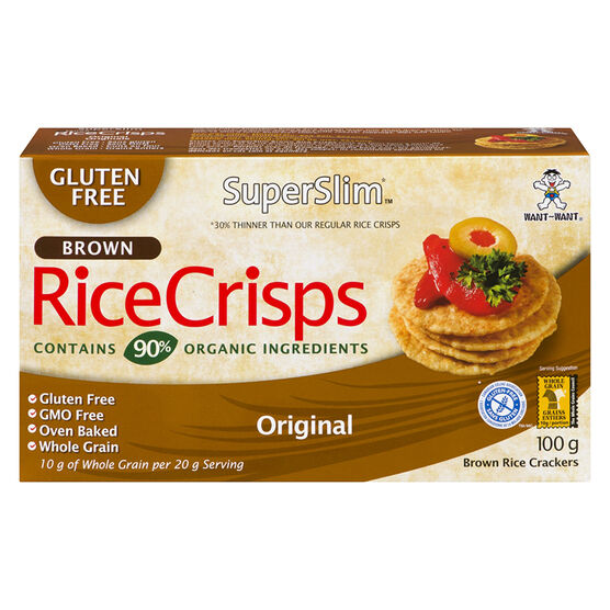 SuperSlim Brown Rice Crisps - Original - 100g