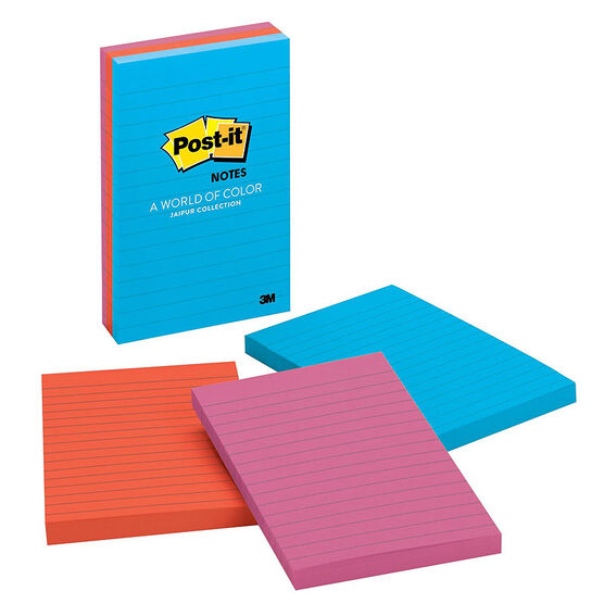 3M Post-It Notes Lined - 3 pads